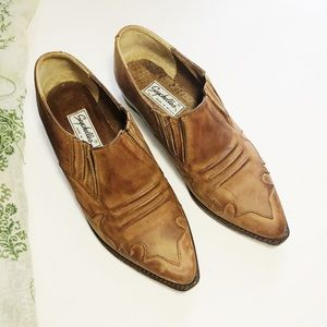 Vintage Seychelles Ankle Boots Brown Leather 8 1/2